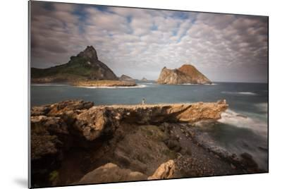 A Woman Stares Out at the Dramatic Landscape of Praia Do Sueste on Fernando De Noronha-Alex Saberi-Mounted Photographic Print