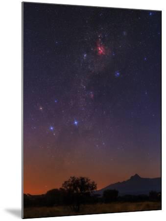 The Milky Way, Carina Nebula, Constellation Crux at Dawn over Mount Kilimanjaro and Mawenzi Peak-Babak Tafreshi-Mounted Photographic Print