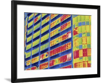 Thermal Image of Buildings in Washington D.C-Tyrone Turner-Framed Photographic Print