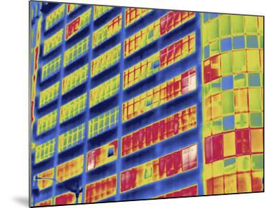 Thermal Image of Buildings in Washington D.C-Tyrone Turner-Mounted Photographic Print