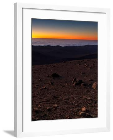 Evening Twilight over a Barren and Martian-Looking Desert Landscape-Babak Tafreshi-Framed Photographic Print
