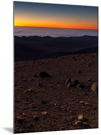 Evening Twilight over a Barren and Martian-Looking Desert Landscape-Babak Tafreshi-Mounted Photographic Print