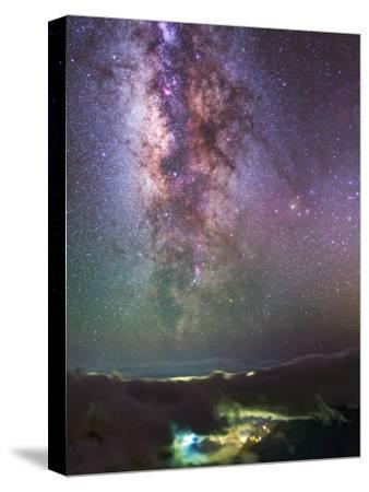 The Milky Way Towards the Bright Central Bulge in the Constellations Scorpius and Sagittarius-Babak Tafreshi-Stretched Canvas Print