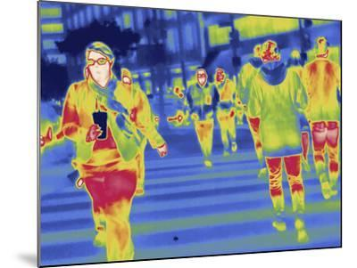Thermal Image of People in a Crosswalk in Washington D.C-Tyrone Turner-Mounted Photographic Print