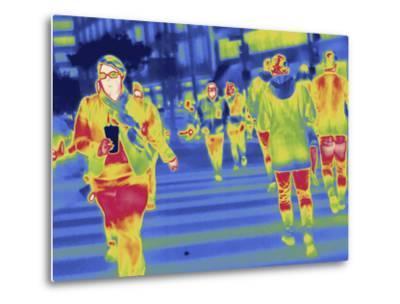 Thermal Image of People in a Crosswalk in Washington D.C-Tyrone Turner-Metal Print