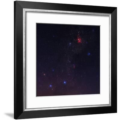 The Southern Milky Way, Red Carina Nebula, and Constellation Crux or Southern Cross, on the Left-Babak Tafreshi-Framed Photographic Print