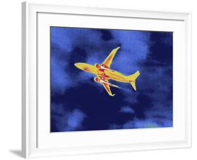 Thermal Image of an Airplane Taking Off from Reagan W. National Airport-Tyrone Turner-Framed Photographic Print