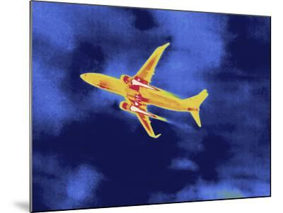 Thermal Image of an Airplane Taking Off from Reagan W. National Airport-Tyrone Turner-Mounted Photographic Print