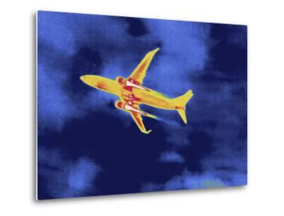 Thermal Image of an Airplane Taking Off from Reagan W. National Airport-Tyrone Turner-Metal Print