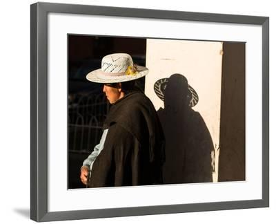 A Traditional Bolivian Woman in the City of Potosi-Alex Saberi-Framed Photographic Print