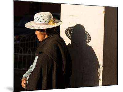 A Traditional Bolivian Woman in the City of Potosi-Alex Saberi-Mounted Photographic Print
