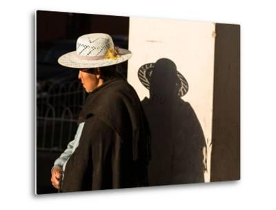 A Traditional Bolivian Woman in the City of Potosi-Alex Saberi-Metal Print
