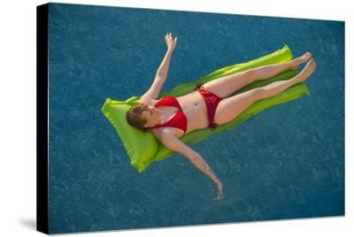 A Young Woman in a Pool on Virginia Beach, Virginia-Joel Sartore-Stretched Canvas Print