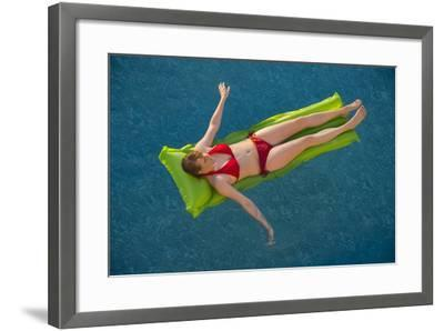 A Young Woman in a Pool on Virginia Beach, Virginia-Joel Sartore-Framed Photographic Print