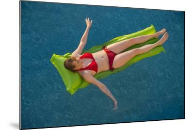 A Young Woman in a Pool on Virginia Beach, Virginia-Joel Sartore-Mounted Photographic Print