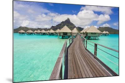 The Boardwalk to the Over-Water Bungalows at the Le Meridien Resort-Mike Theiss-Mounted Photographic Print