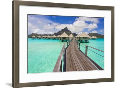 The Boardwalk to the Over-Water Bungalows at the Le Meridien Resort-Mike Theiss-Framed Photographic Print