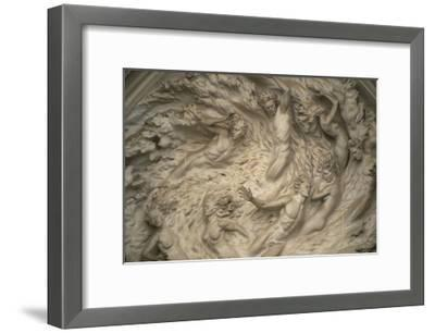 The Ex Nihilo Relief by Frederick Hart Above the Central Portal of the National Cathedral-Joel Sartore-Framed Photographic Print