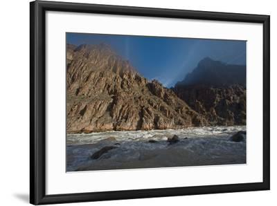 An Early Winter Morning in Granite Rapid, Colorado River-David Edwards-Framed Photographic Print