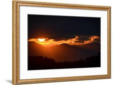 Sunset over the Blue Ridge Mountains-Amy White and Al Petteway-Framed Photographic Print
