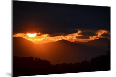 Sunset over the Blue Ridge Mountains-Amy White and Al Petteway-Mounted Photographic Print