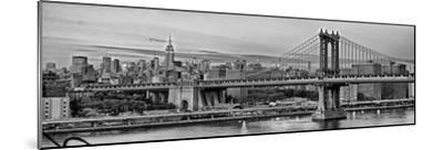 Night View of the Manhattan Bridge, the Empire State Building and the East River-Kike Calvo-Mounted Photographic Print