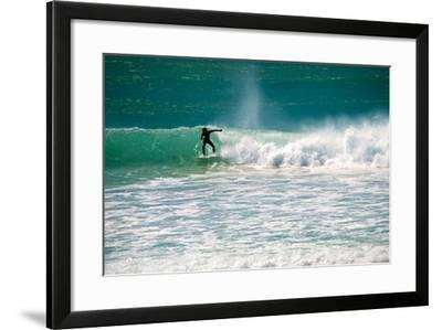 A Man Surfing Off the Coast of South Africa-Heather Perry-Framed Photographic Print