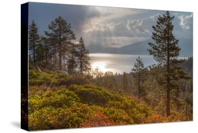 A Storm at Sunrise over Lake Tahoe, California-Greg Winston-Stretched Canvas Print