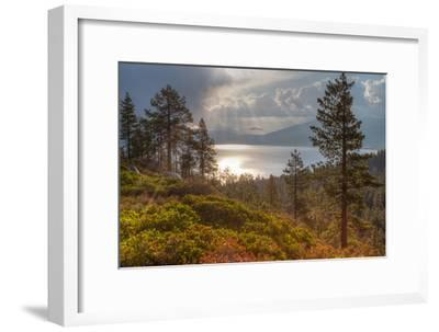 A Storm at Sunrise over Lake Tahoe, California-Greg Winston-Framed Premium Photographic Print