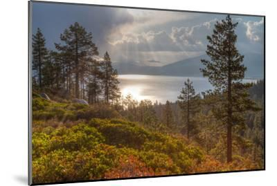 A Storm at Sunrise over Lake Tahoe, California-Greg Winston-Mounted Premium Photographic Print