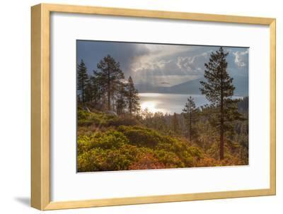 A Storm at Sunrise over Lake Tahoe, California-Greg Winston-Framed Photographic Print