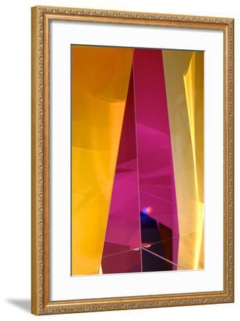 Dazzling Abstract Color in a Close Up View of a Small Detail of Glass Artwork-Paul Damien-Framed Photographic Print