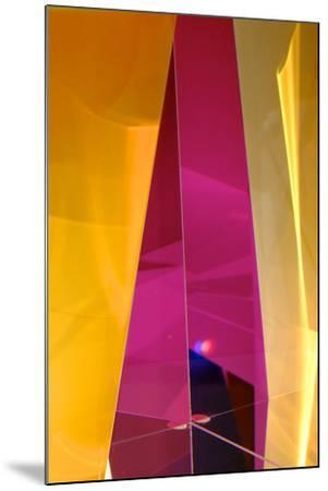 Dazzling Abstract Color in a Close Up View of a Small Detail of Glass Artwork-Paul Damien-Mounted Photographic Print