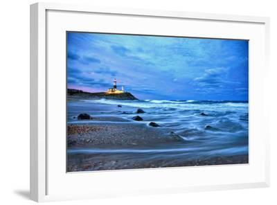 The Montauk Point Lighthouse Shining at Dusk-Robbie George-Framed Photographic Print