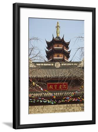 A Ming Dynasty, 15th-16th Century, Pagoda at Jiming Temple, Nanjing, Jiangsu Province, China-Nigel Hicks-Framed Photographic Print