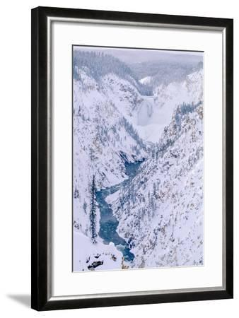 The View of the Lower Falls of the Yellowstone from Artist Point-Tom Murphy-Framed Photographic Print