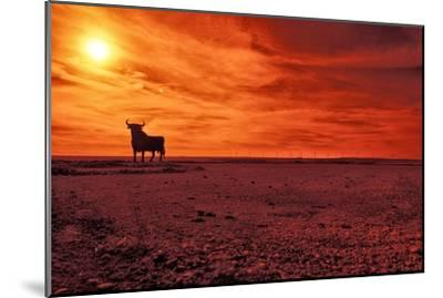 Toro De Osborne, an Unofficial National Symbol of Spain, First Created in 1956 by Manolo Prieto-Kike Calvo-Mounted Photographic Print