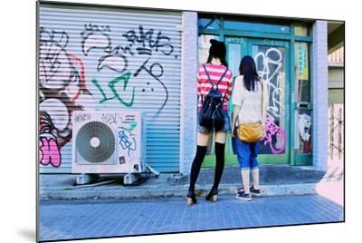 Young Women Window Shop on Harajuku's Cat Street-Heather Perry-Mounted Photographic Print
