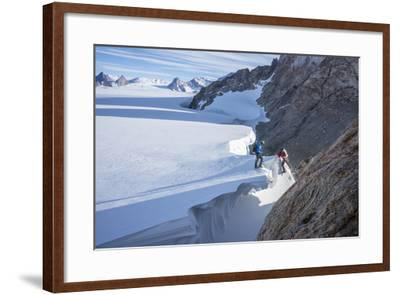 Mountaineers Trek across the Antarctic Ice Cap for a Circumnavigation of the Wohlthat Mountains-Keith Ladzinski-Framed Photographic Print