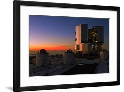 Dusk at the Very Large Telescope Operated by the European Southern Observatory on Cerro Paranal-Babak Tafreshi-Framed Photographic Print
