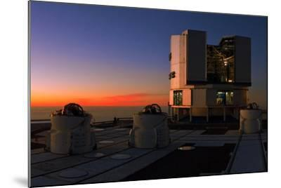 Dusk at the Very Large Telescope Operated by the European Southern Observatory on Cerro Paranal-Babak Tafreshi-Mounted Photographic Print