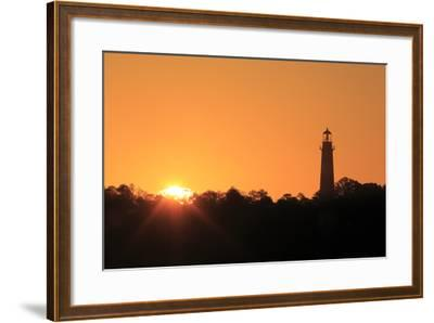 The Sun Rising Next to the Assateague Lighthouse-Robbie George-Framed Photographic Print