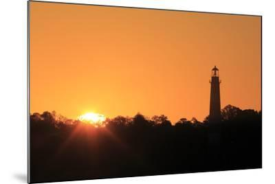 The Sun Rising Next to the Assateague Lighthouse-Robbie George-Mounted Photographic Print