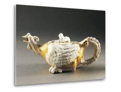 Zoomorphic Teapot, Porcelain, Germany--Metal Print