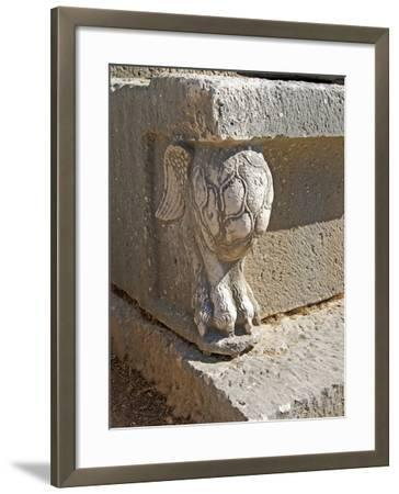Winged Lion's Foot, Letoon, Turkey--Framed Photographic Print
