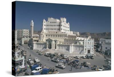 Yemen, Hadramawt Province, Saywun, Archaeological and Ethnographical Museum, Elevated View--Stretched Canvas Print