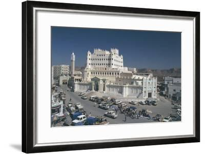 Yemen, Hadramawt Province, Saywun, Archaeological and Ethnographical Museum, Elevated View--Framed Photographic Print