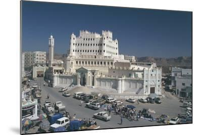 Yemen, Hadramawt Province, Saywun, Archaeological and Ethnographical Museum, Elevated View--Mounted Photographic Print