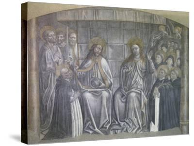 Christ Giving World to Saint Dominic in Presence of Virgin Mary-Carlo Brancaccio-Stretched Canvas Print