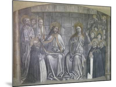 Christ Giving World to Saint Dominic in Presence of Virgin Mary-Carlo Brancaccio-Mounted Giclee Print